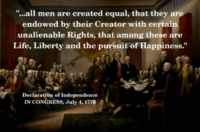 Image result for endowed by their creator with certain unalienable rights that among them are life liberty and the pursuit of happiness